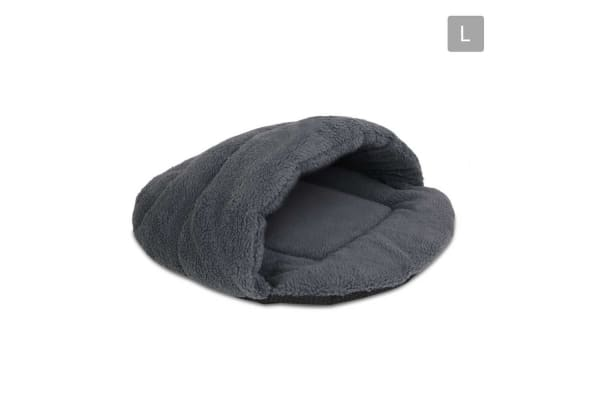Cave Style Pet Bed Large (Grey)