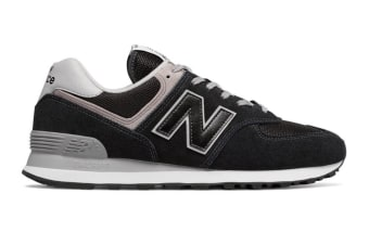 New Balance Women's 574 Shoe (Black, Size 8.5)