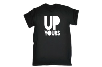 123T Funny Tee - Up Yours - (XX-Large Black Mens T Shirt)