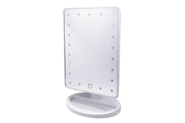 Led Light Make Up Cosmetic Mirror W/ 10X Magnification Battery Usb Power White