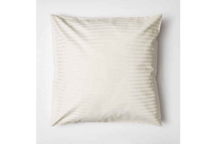 Belledorm 540 Thread Count Satin Stripe Continental Pillowcase (Ivory) (One Size)