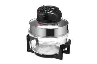 Maxkon 17L Halogen Oven Cooker Air Fryer w/ LED Display - Black