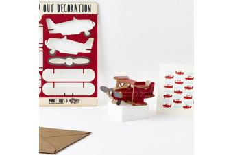 Pop Out Decoration Greeting Card - Plane