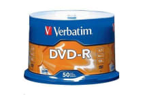 Verbatim x16 DVD-R 50pk Spindle White InkJet Printable 4.7GB w/Advanced Azo Superior Archival Life