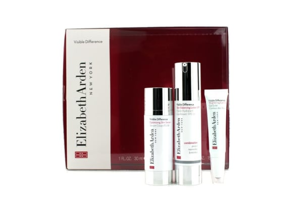 Elizabeth Arden Visible Difference Set: Balancing Lotion SPF15 50ml + Serum 30ml + Eye Gel 15ml (3pcs)
