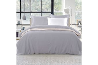 Giselle Bedding Luxury Classic Duvet Doona Quilt Cover Set Hotel Super King Grey