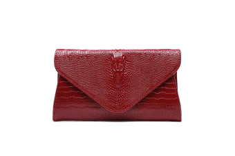Sparkling Metal Lock Clutch Rhinestone Frosted Evening Party Clutches Bungundy