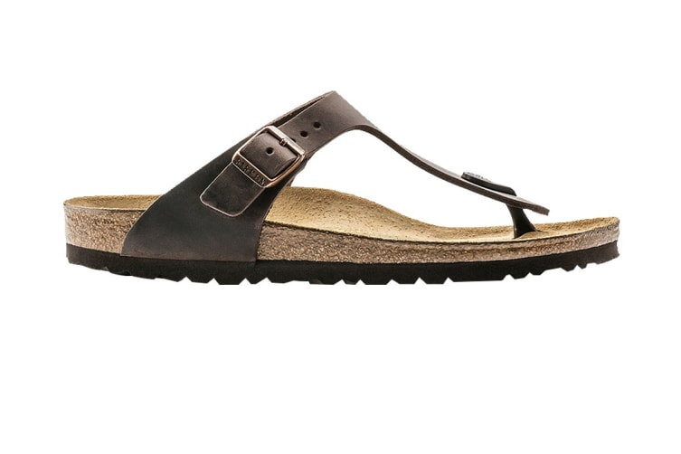 Birkenstock Unisex Gizeh Oiled Leather Thong (Habana, Size 37 EU)