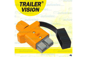 TRAILER VISION YELLOW 50A AMP ANDERSON PLUG COVER CARAVAN ASSEMBLY + DUST CAP