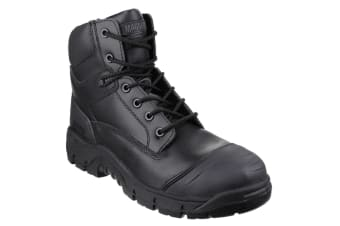 Magnum Mens Roadmaster Leather Safety Boots (Black)
