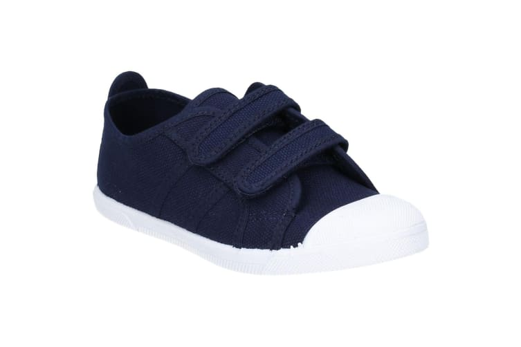 Flossy Sasha Girls Junior Touch Fastening Shoe (Navy) (6 Child UK)