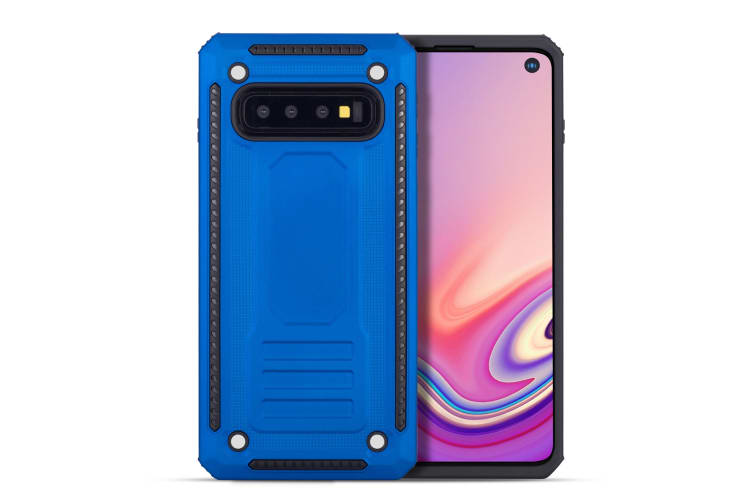 For Samsung Galaxy S10+ Plus Case  Armour Strong Shockproof Tough Cover  Blue