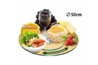 50CM TEMPERED GLASS LZY Lazy SUSAN DINING KITCHEN DININGWARE GIFT HOME