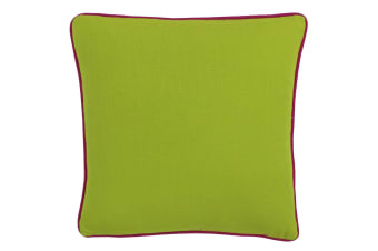 Paoletti Bamboo Cushion Cover (Lime/Fuchsia)