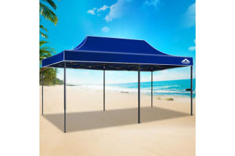 Pop Up Gazebo 3x6 Outdoor Tent Folding Wedding Marquee Gazebos Blue