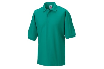 Russell Mens Classic Short Sleeve Polycotton Polo Shirt (Winter Emerald)