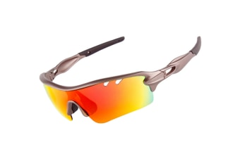Outdoor Sports Polarizing Sunglasses Can Be Replaced By 5-Pieces Suit - 1 Grey 5Pcs