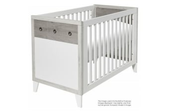 Love N Care Brooklyn Cot White+ Ash