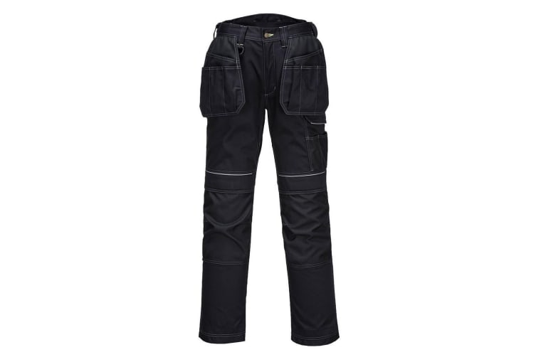 Portwest Mens PW3 Work Holster Trousers (Black) (38R)