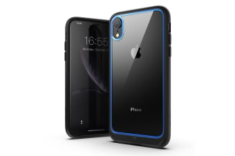 MAXSHIELD Heavy Duty Shockproof Slim Cover for iPhone XR-Blue