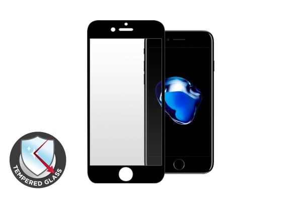Premium Tempered Glass Screen Protector for iPhone 7 (Black)