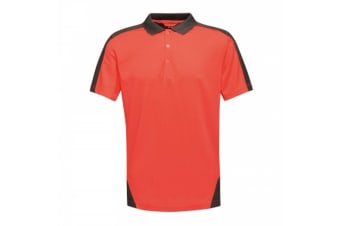 Regatta Mens Contrast Coolweave Polo Shirt (Classic Red/Black) (M)