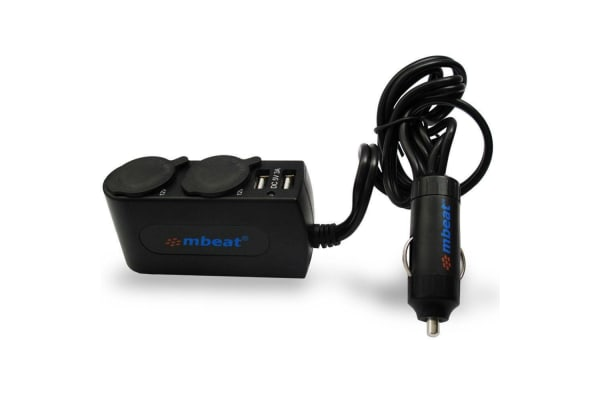 mbeat Dual Port USB and Cigarette Lighter Car Charger