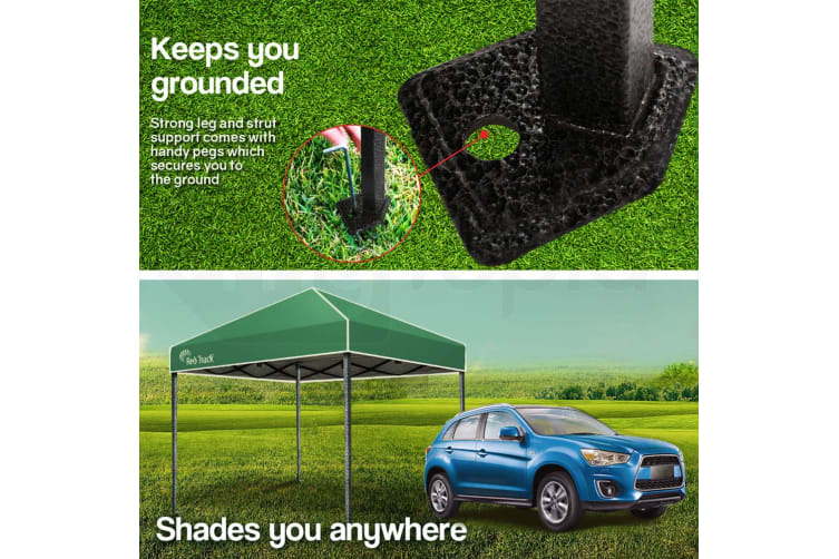 Red Track 3x3m Folding Gazebo Shade Outdoor Pop-Up Green Foldable Marquee