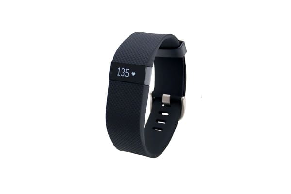 Fitbit Charge HR Heart Rate + Activity Wristband (Large, Black)