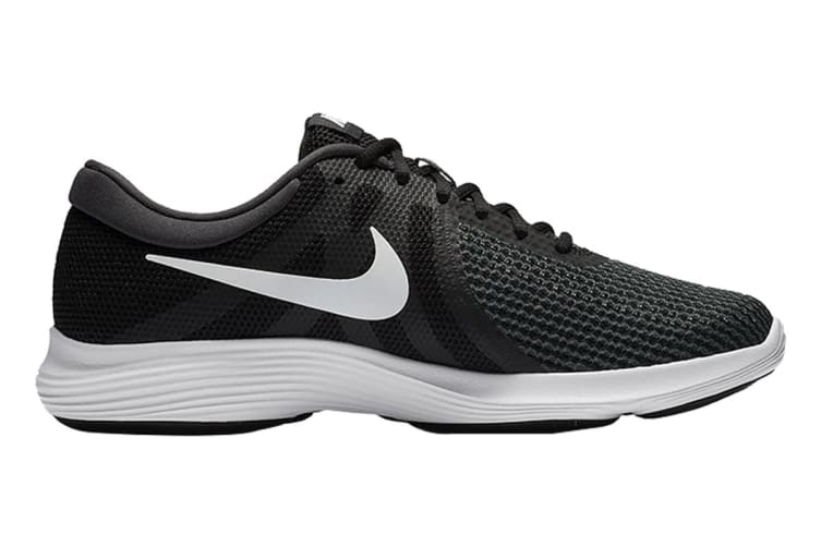 Nike Men's Revolution 4 Running Shoe (Black/White, Size 10 US)