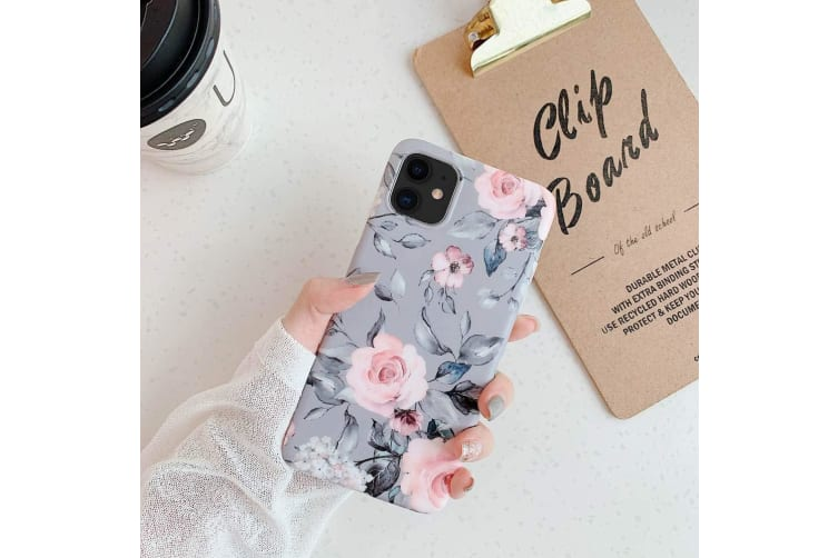 Marble Pattern Soft TPU Case Elegant Stylish Shockproof Silicone Cover for iPhone 7/8 Plus-Grey