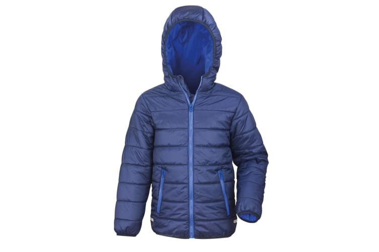 Result Core Childrens/Kids Junior Padded Showerproof & Windproof Jacket (Navy/Royal) (2XS)
