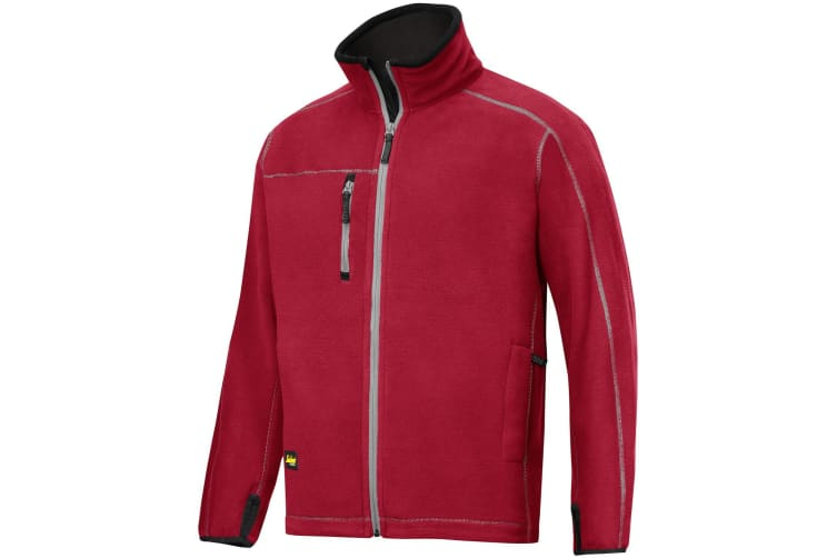Snickers Mens AIS Workwear Fleece Jacket (Chillii Red) (XL)