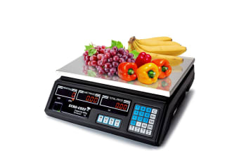 Kitchen Scale Digital Commercial Shop Electronic Weight Scales Food 40KG BK