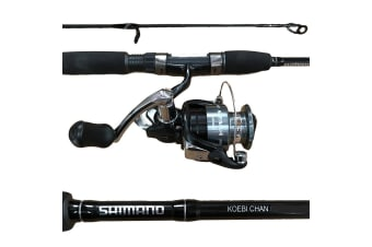 Shimano Koebi Chan/Sienna Fishing Rod and Reel Combo - 2 Piece Spin Combo [Length/Rating/Reel Size: 7ft/2-4kg/2500 Reel]
