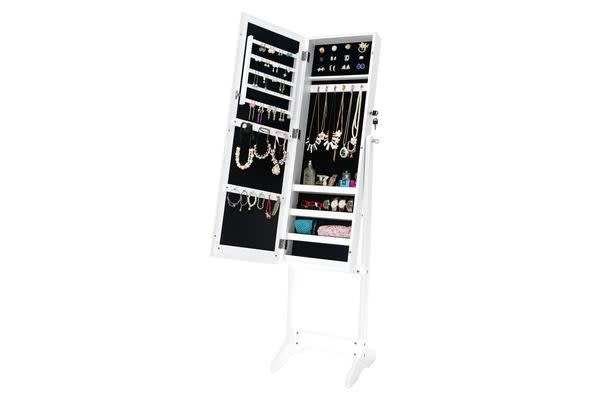 Mirror Jewellery Cabinet JEWLY - White