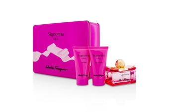 Salvatore Ferragamo Signorina In Fiore Coffret: EDT Spray 50ml/1.7oz + Body Lotion 50ml/1.7oz + Shower Gel 50ml/1.7oz 3pcs