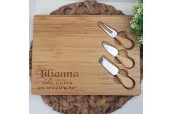 Personalised Bamboo Cheese Board
