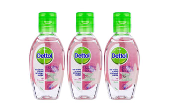 3pc Dettol 50ml Instant Hand Care Sanitizer Chamomile Anti-bacterial Sanitiser