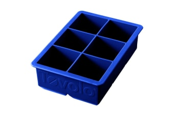 Tovolo King Jumbo Ice Cube Silicone Tray BPA Free Dishwasher Safe Stratus Blue