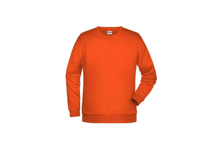James And Nicholson Mens Basic Sweatshirt (Orange) (XXL)