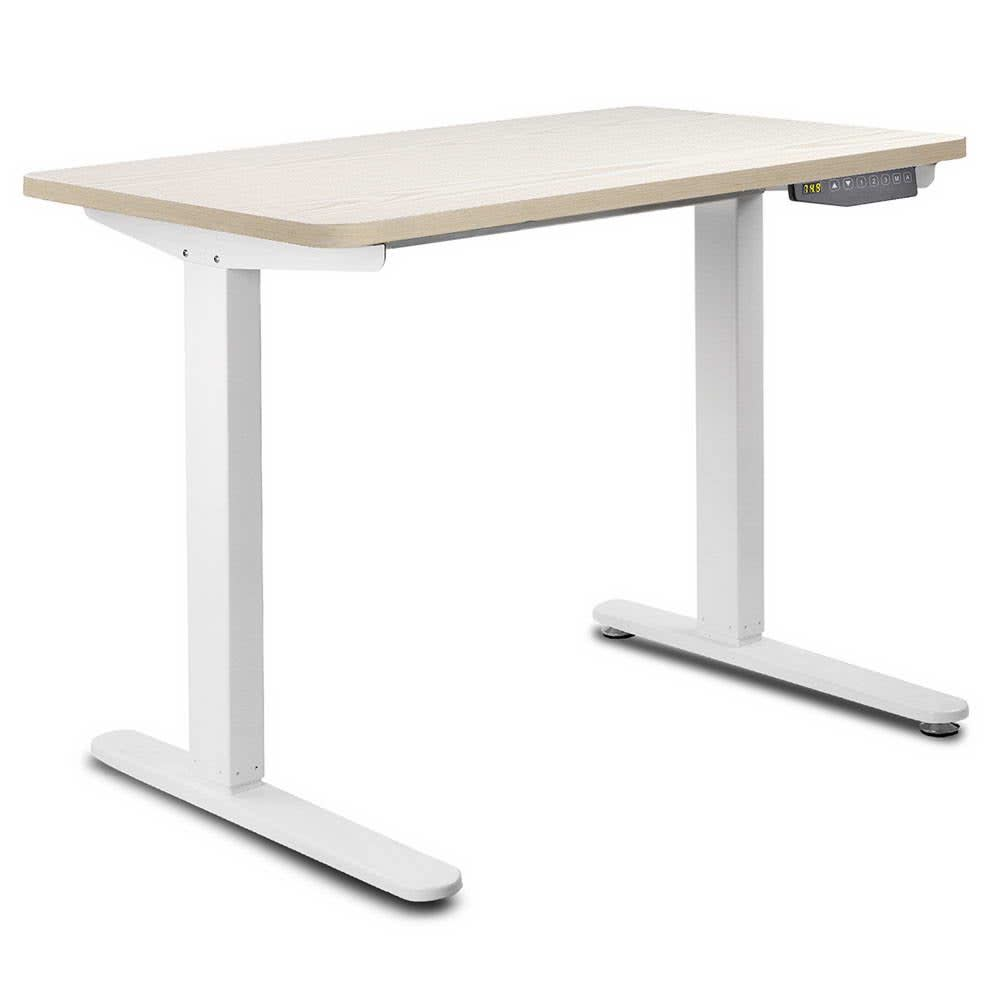 Image of 100CM Motorised Height Adjustable Sit Stand Desk (White Oak)