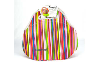Go Gourmet Insulated Lunch Bag - Stripes
