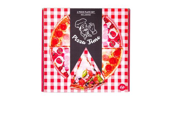 IS GIFT Pizza Time 6pc Slice Plate