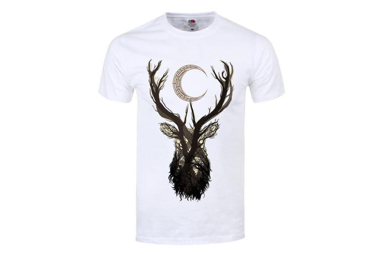 Unorthodox Collective Mens Jackalope T Shirt (White) (XL)