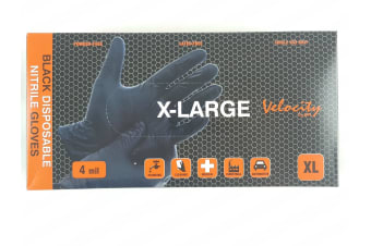 Black Disposable Nitrate Gloves 100 EXTRA LARGE Latex Free Powder Free