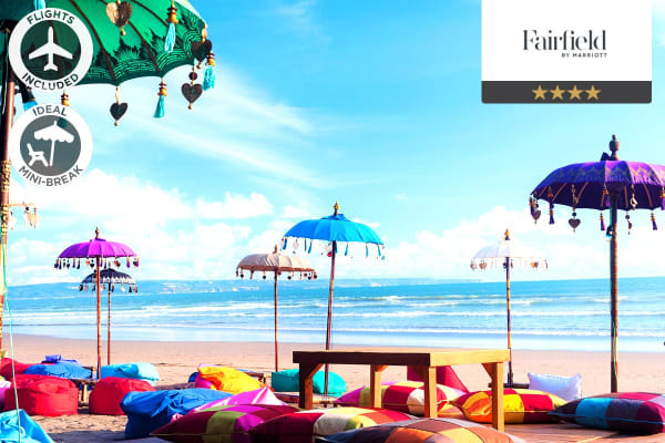 BALI: 5 Nights at Fairfield by Marriott Bali Legian Including Flights For Two (Departing MELB/SYD/BNE/ADL)