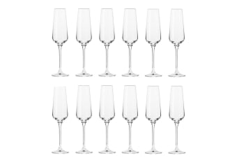 12pc Krosno Avant-Garde 180ml Champagne Sparkling Wine Flutes Barware Glass Set