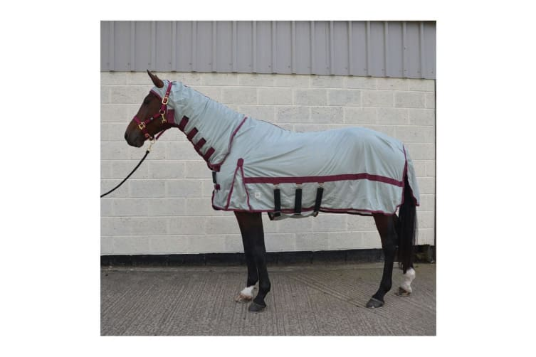 Hy Guardian Fly Rug And Fly Mask (Silver) (5�' 6�'�')