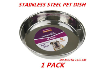1 x Heavy Duty Metal Stainless Steel Dog Cat Pet Puppy Dish Food Water Bowl Plate